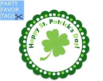 St. Patricks Day Favor Tags - St. Patricks Favor Tags, Happy St. Patricks Day Tags, St. Patricks Tags, Printable Favor Tag