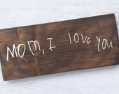 Deposit - Personalized Handwriting wood sign - kids writing - signature - handmade - painted - stained - custom - HAVENSPLACE