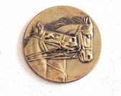 1930's Vintage Horse Medal - Equestrian Award