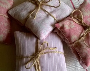 Vintage and Upcycled Fabric Lavender Sachets