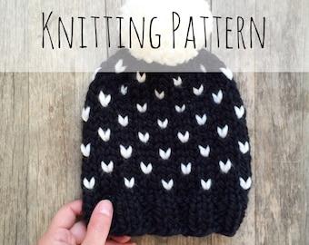 Stargazer Toque, Knitting Pattern, Fair Isle, Fair Isle Knit Hat, Chunky Fair Isle, Knit Hat, Knit Hat Pattern, Pattern, Knit Beanie Pattern
