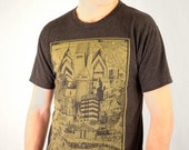 FREE SHIPPING -UNISEX - Philadelphia Skyline Illustration - Paul Carpenter Art - Unisex Philly Tee Shirt