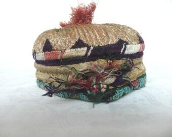 Antique Turkmen hat - child's central Asian hat - antique tribal hat - child's Turkmen hat - hand made Asian hat