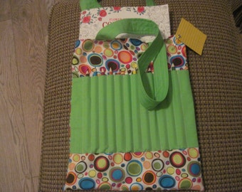 Adult's coloring book and pencil bag -- multi colored circles