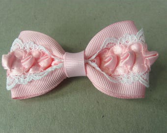 Small Pink Bow, Baby Hair Bows, Girl Pink Hair Bow,  Baby Hair Clip, Toddler Hair Accessories
