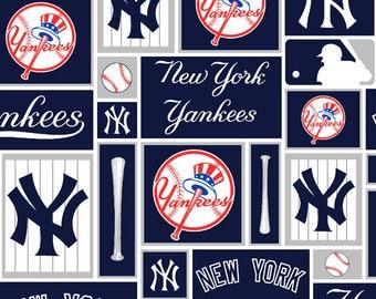 New York Yankees Block Fabric