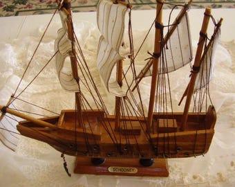 Vintage Wooden Sailing SHIP