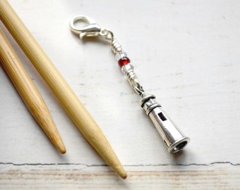 Nubble Lighthouse / Knitting Progress Marker  / Removable Stitch Marker / Crochet Stitch Marker / Locking Stitch Marker