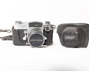 Miranda Sensorex 35mm Camera 1960s Original Leather Case