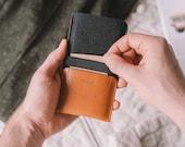 "Wallet for Google Pixel, leather, wool felt, tan, brown, black, ""Kangaroo"""