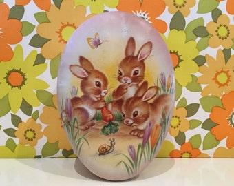 Vintage C.W.S Kitsch Bunny Rabbit Tin Cute Kawaii