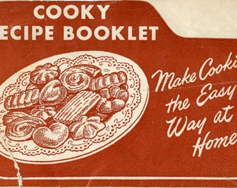 Mirro Cooky/Cookie and Pastry Instruction Booklet with Recipes