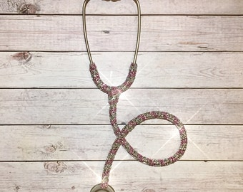 Bling prestige stethoscope- bling littmann stethoscope- pink bling stethoscope- crystal stethoscope- med student gift- nurse gift- doctor