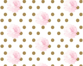 Nursery Items in Pink Floral and Dot fabric, Abigail Collection,floral crib set,Changing covers, girl crib skirt, teething guard