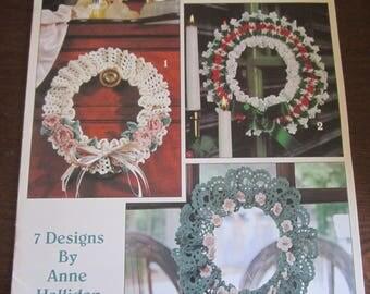 Lovely Wreaths to Crochet Leisure Arts Leaflet 2567