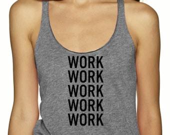 Work Tank Top, Womens, Yoga, Running Top