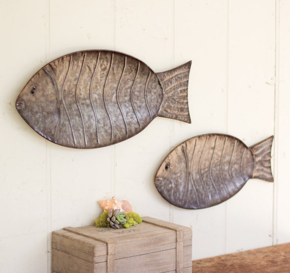 Metal Fish Wall Art Hangings Nautical