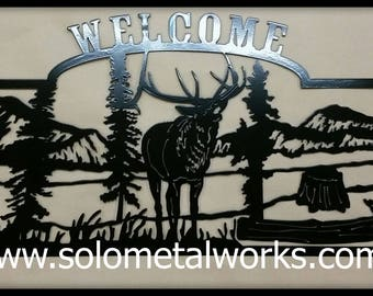 CNC Plasma Cut Elk Welcome SIgn