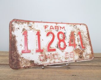 Ohio Farm 1968 License Plate