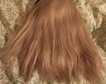 Cool blonde vintage 60's human hair fall half wig bouffant style