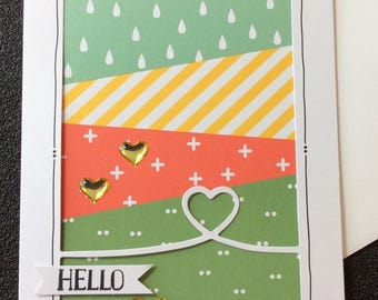 Hello, Friendship, Miss You, Handmade, stampin up