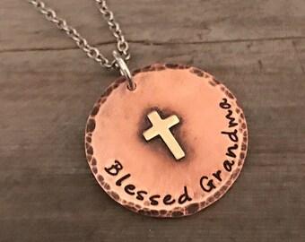 Hand Stamped  - Copper Jewelry - Personalized Jewelry - Family Necklace - Grandma Jewelry - Name Jewelry - Soldered Jewelry - Name Jewelry