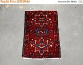 YEAR END CLEARANCE Persian Rug - 1990s Hand-Knotted Karaja Persian Rug (3427)