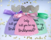 Will you be my bridesmaid will you be my maid of honor bridesmaid invitation