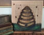 Bee Skep Original Painting