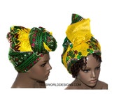 Yellow Dashiki headwrap , African headwrap ,Head wrap , Head wrap Women , Head wrap Scarf , Headwrap , accessories , African wraps,  HT164