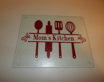 """Personalized Name Kitchen Cutting Board - Size 12""""x15"""""""