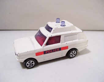 Vintage Corgi Juniors Range Rover Police Die-cast Car, Great Britain
