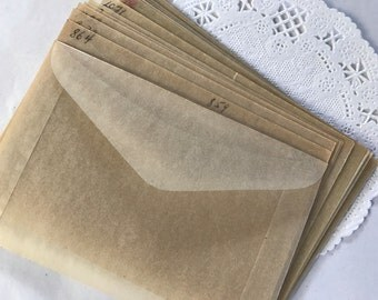 25 Vintage Glassine Envelopes,