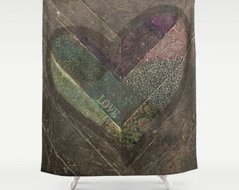 Fabric Shower Curtain, Bathroom Decor - Weathered Love - Photography by RDelean Design