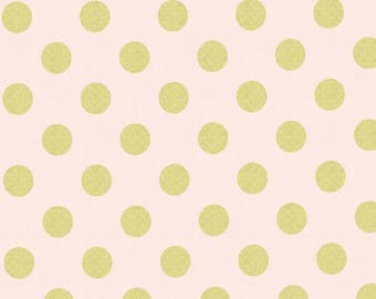 Quarter Dot Pearlized in Confection - Glitz collection by Michael Miller Fabrics - Modern metallic gold