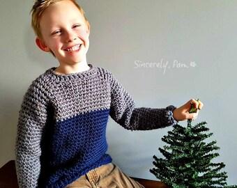 Sunday Sweater Child Crochet Pattern pdf