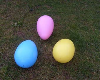 GIANT EASTER EGG - the big lawn egg -  new -  3 pack - our choice