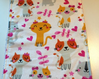 Cats/Kittens Blankie/Burp Cloth