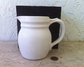 Vintage McCoy Pottery, Matte White, Cream Pitcher, Model 1270, Free Shipping