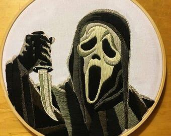 Liver Alone- Scream Embroidery