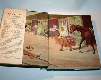 """Vintage 1960 """"Born to Trot"""" by Marguerite Henry / Illustrated by Wesley Dennis!  HC/DJ!  220+ Pages!"""