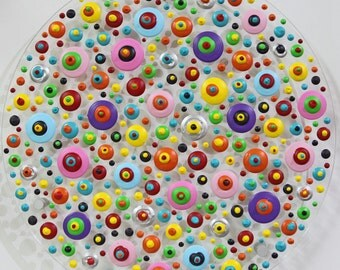 xxl abstrakt art painting acryl plexiglas  40  cm 16  inch