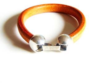 Men's Brown Leather Cuff