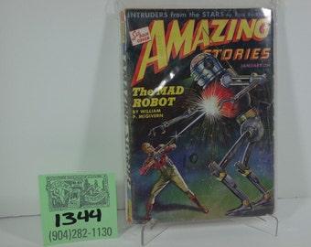 January 1943 Amazing Stories Pulp Magazine