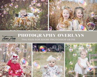 ON SALE Photography Bubble Overlays, Bubble Photo Overlays, INSTANT Download