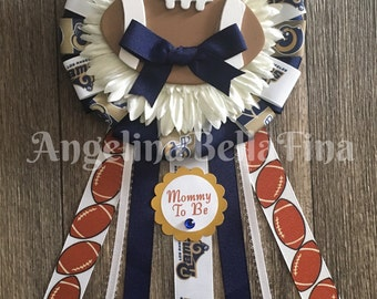 NEW Rams Football Themed Mommy To Be Corsage