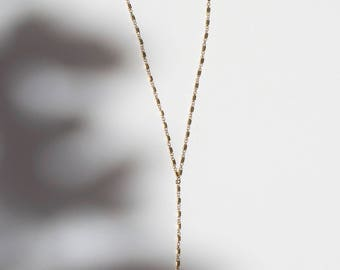 Lariat Necklace- Gold Filled Necklace- Gold Filled Lariat Necklace- Y Necklace
