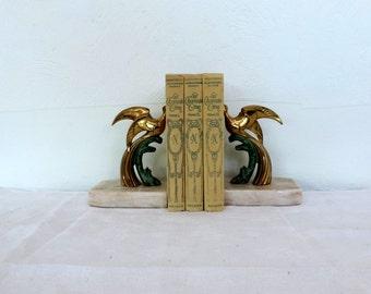 Les Quarante Cinq by Alexandre Dumas, a 3 volume set, vintage French novels, book bundle published by Nelson in 1937