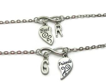 2 Personalized Best Friends Infinity Bracelets, Friends Bracelets, Bracelets For 2, BFF Bracelets, Best Friend Bracelet, Sisters Bracelets