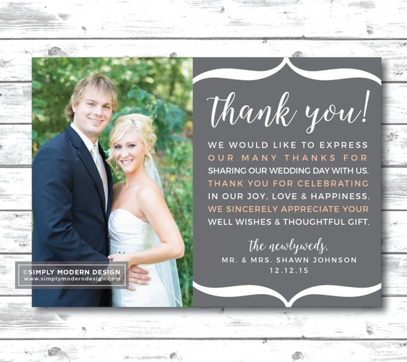 Wedding Thank You Note Card Guest